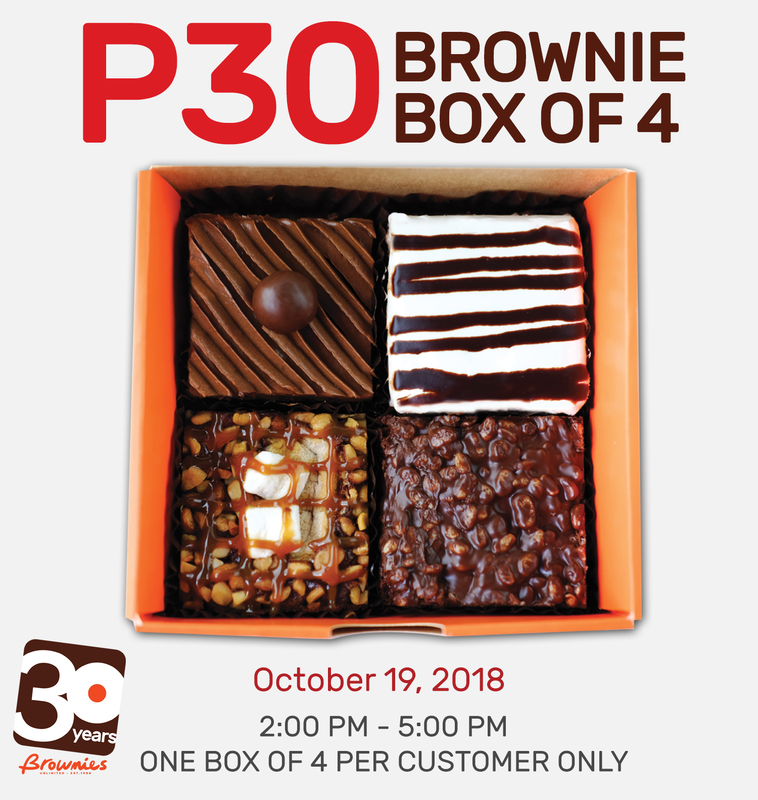Brownies Unlimited 30th Birthday Blowout